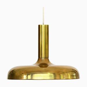 Mid-Century Danish Brass Pendant Lamp, 1960s