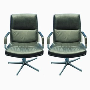 Leather Swivel Chairs by Preben Fabricius for Walter Knoll / Wilhelm Knoll, 1970s, Set of 2