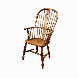 Antiker englischer Windsor Beistellstuhl im viktorianischen Stil