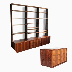 Rosewood Wall Unit by Alfred Hendrickx for Belform, 1960s