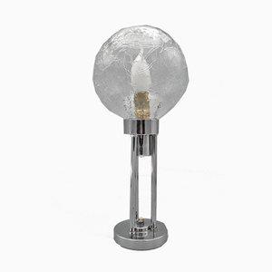 Verchromte Vintage Art Déco Tischlampe von Claude-Paz & Silva