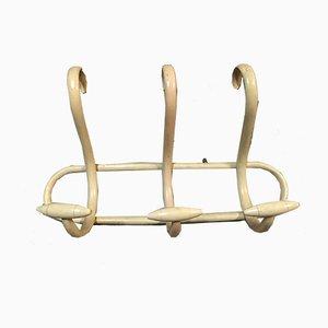 Antike elfenbeinfarbene Modell S3 Garderobe aus geformtem Holz von Thonet