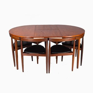 Roundette Dining Table & Chairs Set by Hans Olsen for Frem Røjle, 1960s