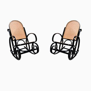 Rocking-chairs Vintage, années 60, Set de 2