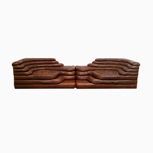 Brown Leather Model Terrazza Sofa by Ubald Klug for de Sede, 1970s