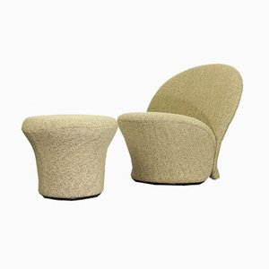 F572 Lounge Chair and Ottoman Set by Pierre Paulin for Artifort, 1968