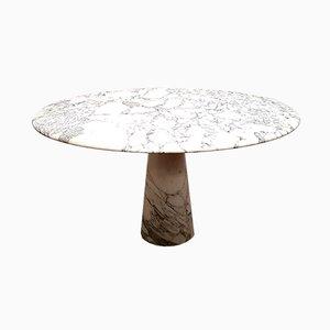 Tavolo da pranzo vintage in marmo, anni '80