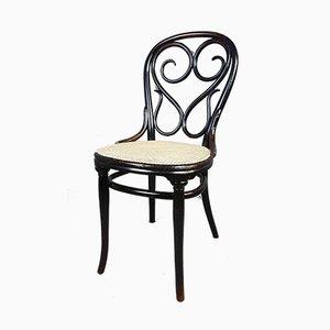 Antiker Nr. 4 Beistellstuhl aus Bugholz von Michael Thonet für Thonet