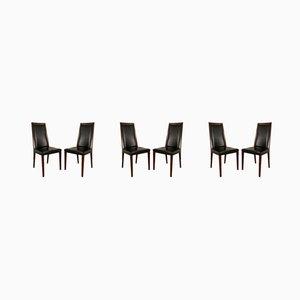 Dänische Esszimmerstühle aus Palisander, 1950er, 6er Set