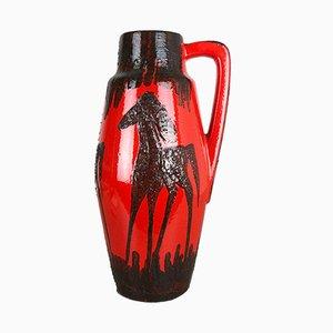 Große Vintage Fat Lava Modell 270-53 Vase mit Pferdemotiv von Scheurich