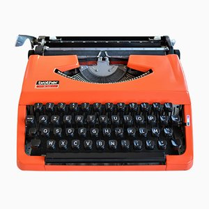 Model 210 Orange Typewriter from Brother, 1970s