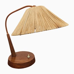 Teak and Sisal Table Lamp from Temde, 1950s