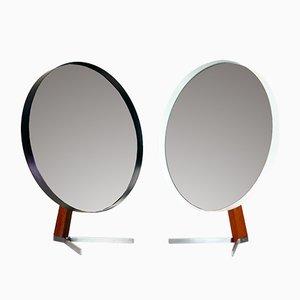 Grands Miroirs Mid-Century en Teck Noir et Blanc par Owen F. Thomas pour Durlston Designs Ltd, Set de 2