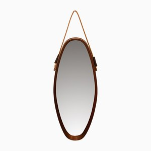 Ovaler Mid-Century Spiegel