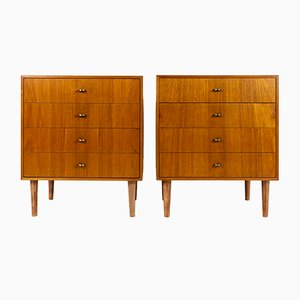 Mid-Century Danish Teak Dressers, 1960s, Set of 4