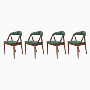 Chaises de Salle à Manger Modèle 31 par Kai Kristiansen pour Schou Andersen, années 60, Set de 4