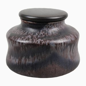 Ceramic Pot with Wooden Lid by Sonja Landweer, 1960s