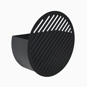 Small Black Diagonal Wall Basket by Andreasson & Leibel for Swedish Ninja