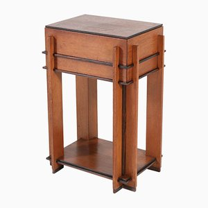 Art Deco Oak Sewing Table by Roodenburgh J, 1920s