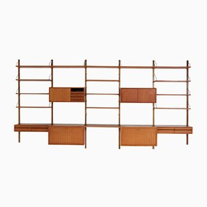 Large Teak Royal Wall Unit by Poul Cadovius for Cado, 1960s