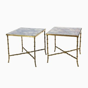 French Side Tables by Maison Bagues, 1950s, Set of 2