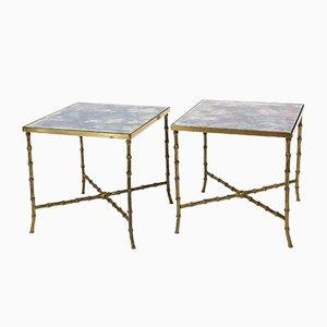 Tables d'Appoint par Maison Bagues, France, années 50, Set de 2