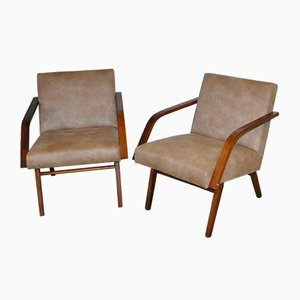 Lounge Chairs from Cesky Nabytek, 1950s, Set of 2
