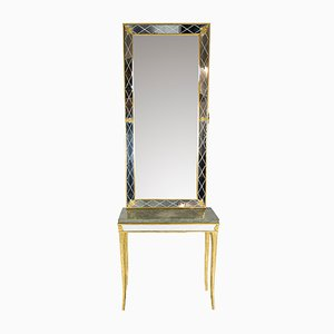 Tavolino Mid-Century e specchio di Atelje G&T per Atelje G & T, Svezia, anni '60