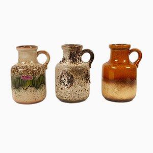Vases Vintage de Scheurich, Allemagne, années 70, Set de 3