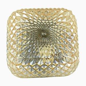 70204 Deckenlampe aus honigfarbenem Glas von Massive Lighting, 1970er
