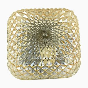 Honey Colored Glass 70204 Ceiling Lamp from Massive Lighting, 1970s