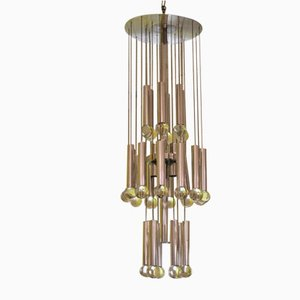 Lámpara de techo vintage de Gaetano Sciolari