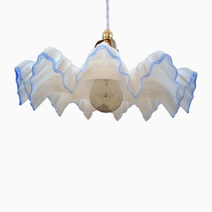 Lampe à Suspension Art Nouveau en Verre, années 20