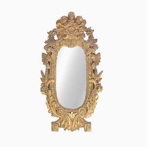 Specchio da parete in legno massiccio, XVIII secolo