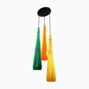 Vintage Glass Ceiling Lamp from Stilnovo