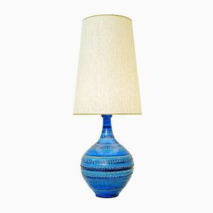 Vintage Rimini Blue Pottery Table Lamp by Aldo Londi for Bitossi