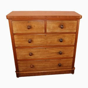 Antique Mahogany Corner Chest of Drawers, 1910s
