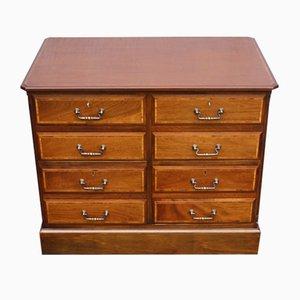 Double Mahogany Filing Cabinet, 1960s
