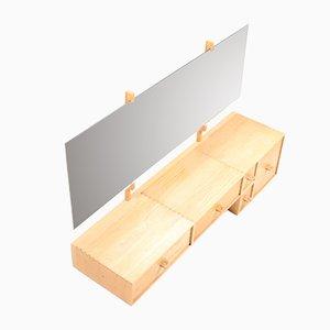 Table Console en Chêne par Uno et Osten Kristiansson pour Luxus, Suède, années 50