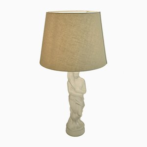 Art Nouveau Style Swedish Frosted Glass Sculptural Table Lamp, 1920s