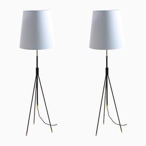 Dänische Mid-Century Stehlampen von Svend Aage Holm Sørensen für Holm Sørensen & Co, 1950er, 2er Set