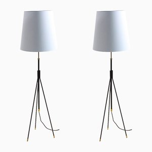 Mid-Century Danish Floor Lamps by Svend Aage Holm Sørensen for Holm Sørensen & Co, 1950s, Set of 2