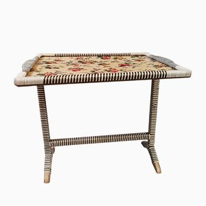 Mid-Century Floral Tilt Table from Durobound