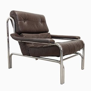 Mid-Century Leather Armchair by Tim Bates for Pieff, 1970s