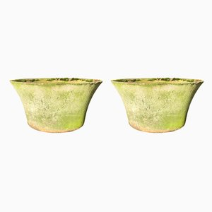 Mid-Century Brutalist Garden Planters by Willy Guhl, Set of 2