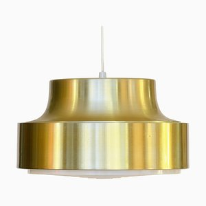 Swedish Golden Aluminum and Plastic Pendant Lamp, 1960s