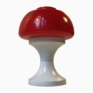 Lámpara de mesa danesa era espacial de A. Schrøder, años 70