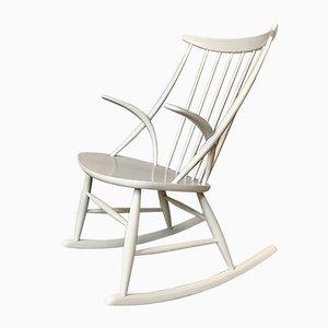 Rocking-chair No.3 par Illum Wikkelsø pour Niels Eilersen, Danemark, années 50