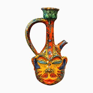 Carafe Sicilienne en Terracotta, années 70