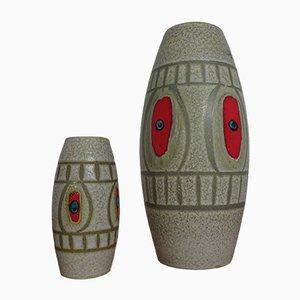 West German Ceramic Vases from Scheurich, 1960s, Set of 2